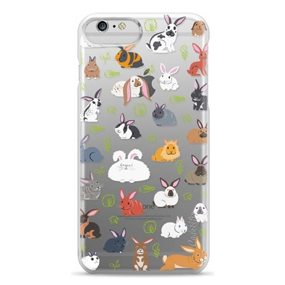 iPhone 6 Plus Cases - BUNNIES - Clear
