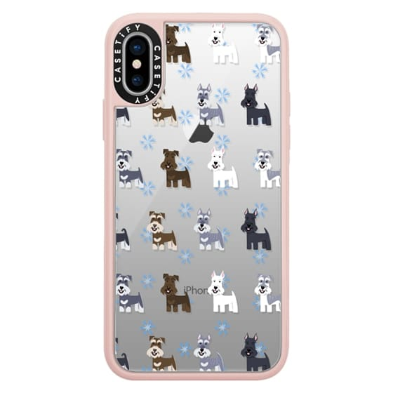 iPhone X Cases - Schnauzers - CLEAR