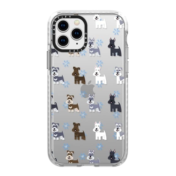 iPhone 11 Pro Cases - Schnauzers - CLEAR