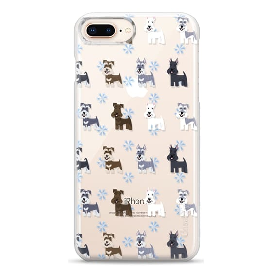 iPhone 8 Plus Cases - Schnauzers - CLEAR