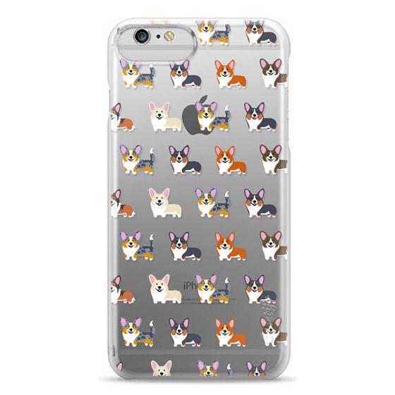 iPhone 6 Plus Cases - Corgis (Clear)