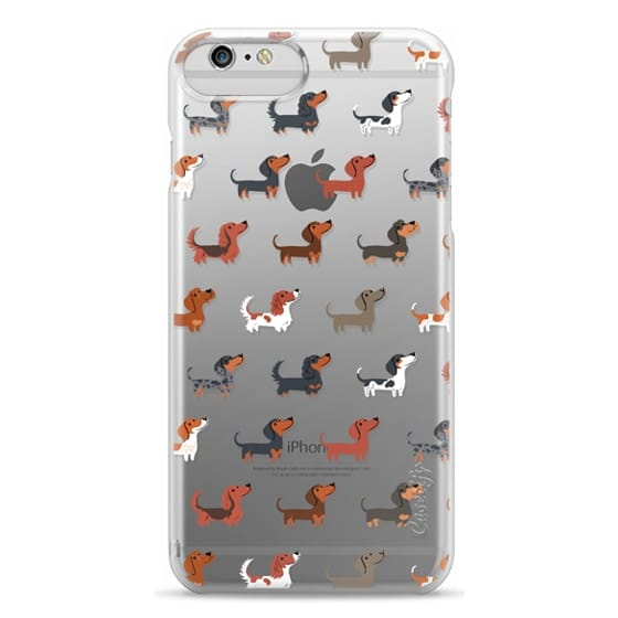 iPhone 6 Plus Cases - DACHSHUNDS (Clear)