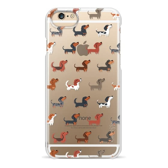 iPhone 4 Cases - DACHSHUNDS (Clear)
