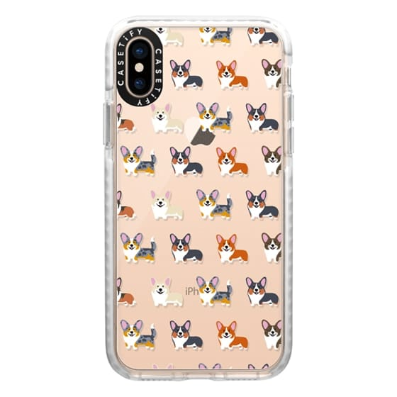 iPhone XS Cases - Corgis (Clear)