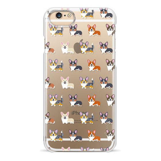 iPhone 4 Cases - Corgis (Clear)