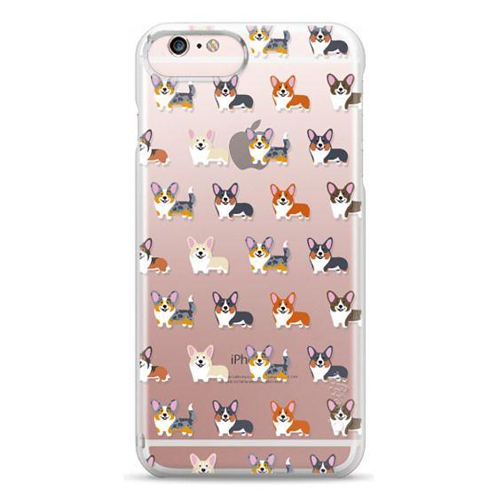 iPhone 6s Plus Cases - Corgis (Clear)