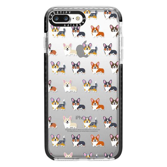 iPhone 7 Plus Cases - Corgis (Clear)