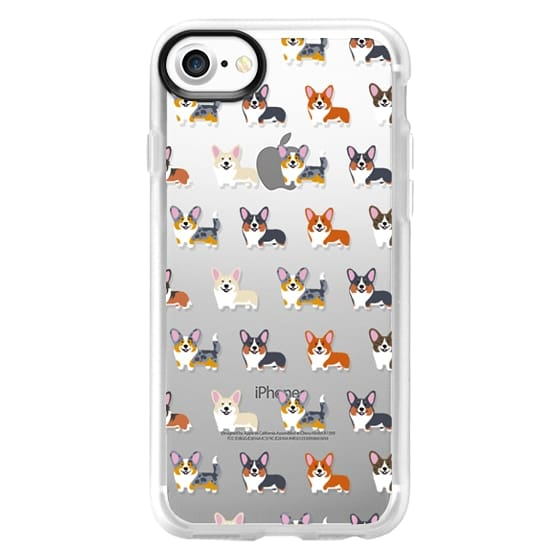 iPhone 7 Cases - Corgis (Clear)