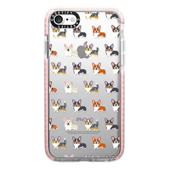 iPhone 7 Cases - Corgis (Clear)