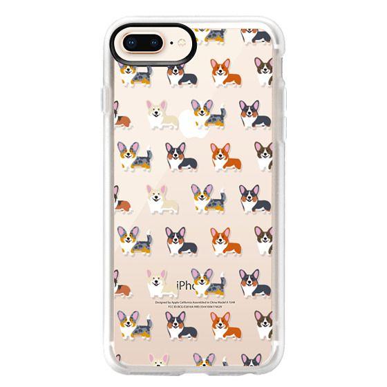 iPhone 8 Plus Cases - Corgis (Clear)