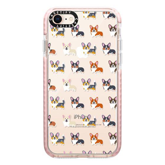 iPhone 8 Cases - Corgis (Clear)