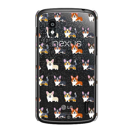 Nexus 4 Cases - Corgis (Clear)