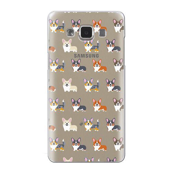 Samsung Galaxy A5 Cases - Corgis (Clear)