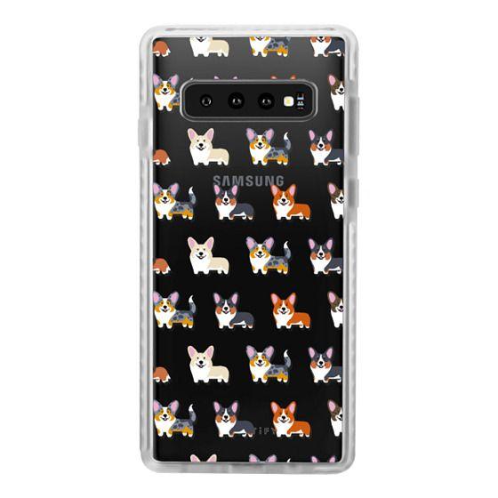 Samsung Galaxy S10 Cases - Corgis (Clear)
