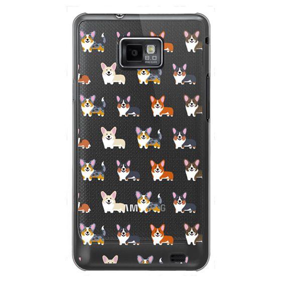 Samsung Galaxy S2 Cases - Corgis (Clear)