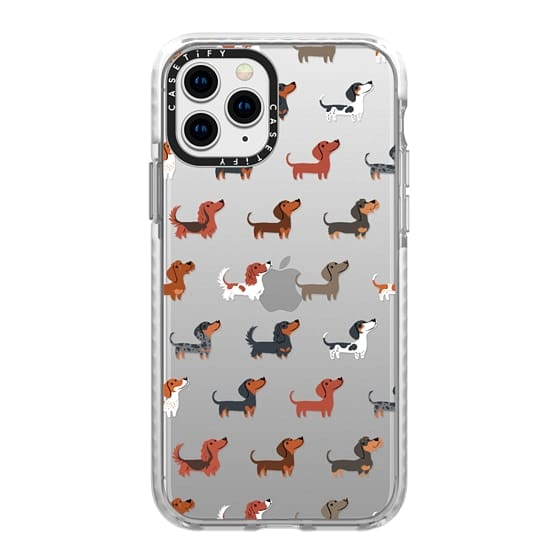 iPhone 11 Pro Cases - DACHSHUNDS (Clear)