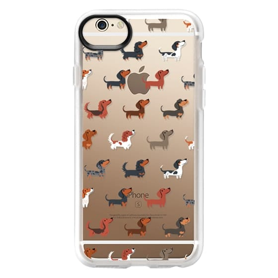 iPhone 6 Cases - DACHSHUNDS (Clear)