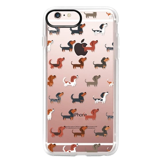 iPhone 6s Plus Cases - DACHSHUNDS (Clear)