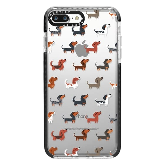 iPhone 7 Plus Cases - DACHSHUNDS (Clear)