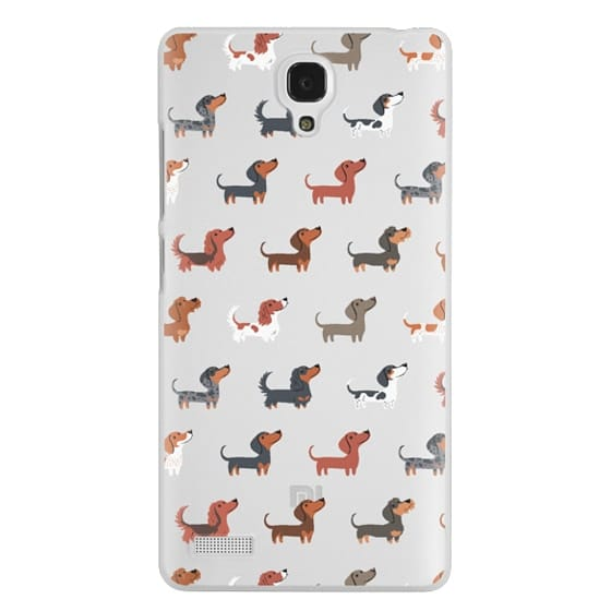 Redmi Note Cases - DACHSHUNDS (Clear)