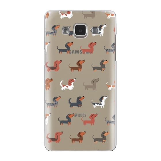 Samsung Galaxy A5 Cases - DACHSHUNDS (Clear)