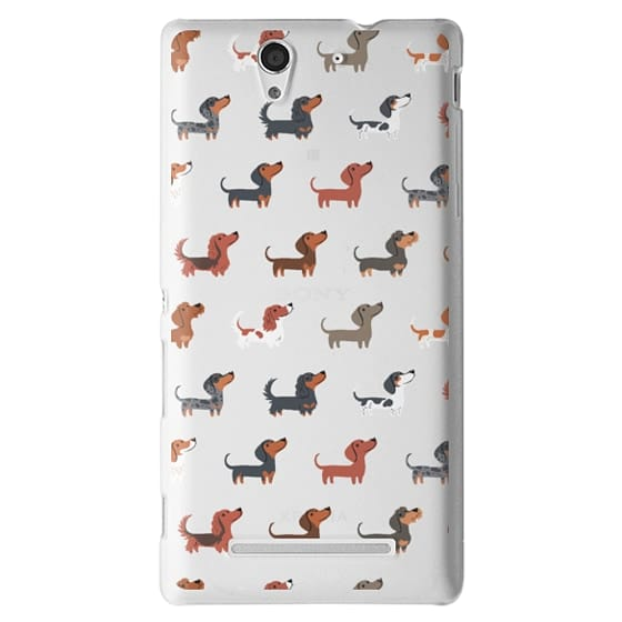Sony C3 Cases - DACHSHUNDS (Clear)