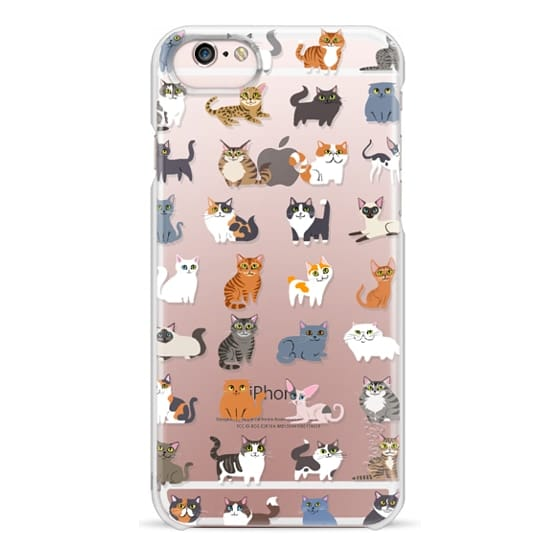 iPhone 6s Cases - All Cats (clear)