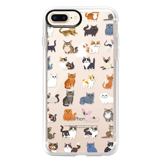 iPhone 8 Plus Cases - All Cats (clear)