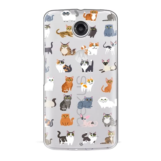 Nexus 6 Cases - All Cats (clear)