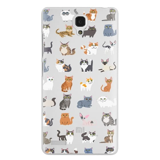 Redmi Note Cases - All Cats (clear)