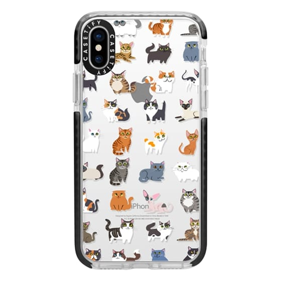 iPhone X Cases - All Cats (clear)