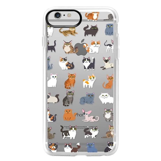 iPhone 6 Plus Cases - All Cats (clear)