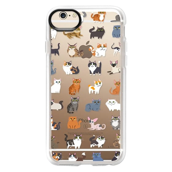 iPhone 6 Cases - All Cats (clear)