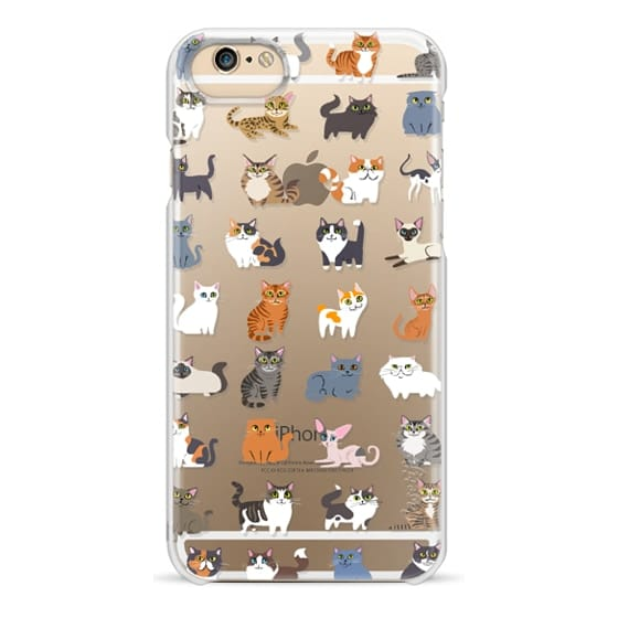 iPhone 4 Cases - All Cats (clear)