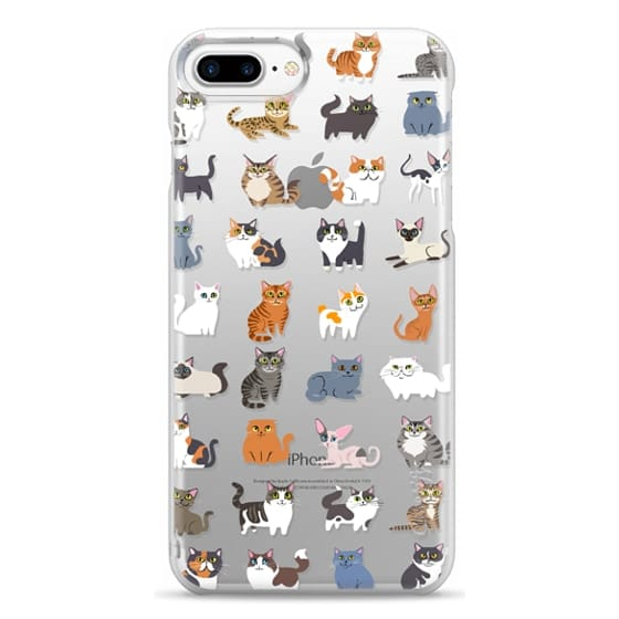 iPhone 7 Plus Cases - All Cats (clear)