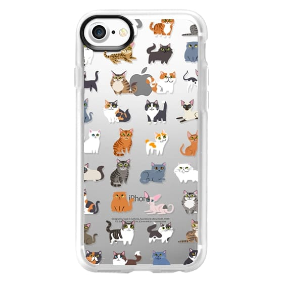 iPhone 7 Cases - All Cats (clear)