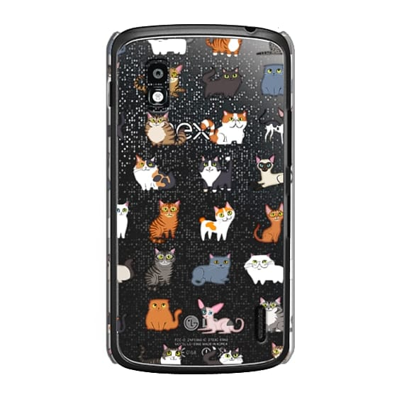 Nexus 4 Cases - All Cats (clear)