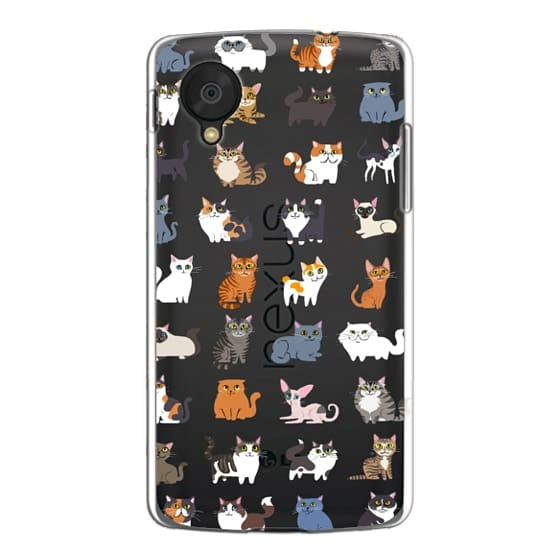 Nexus 5 Cases - All Cats (clear)