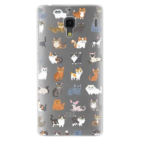 Redmi 1s Cases - All Cats (clear)