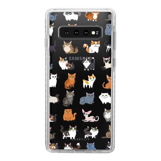 Samsung Galaxy S10 Cases - All Cats (clear)