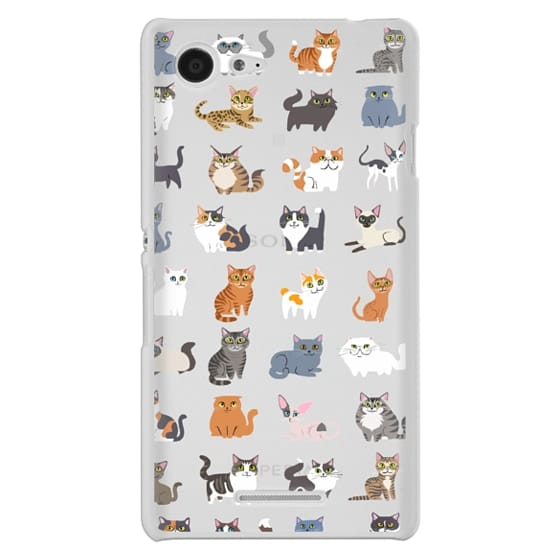 Sony E3 Cases - All Cats (clear)
