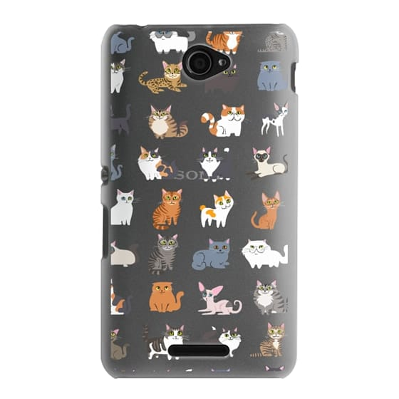 Sony E4 Cases - All Cats (clear)