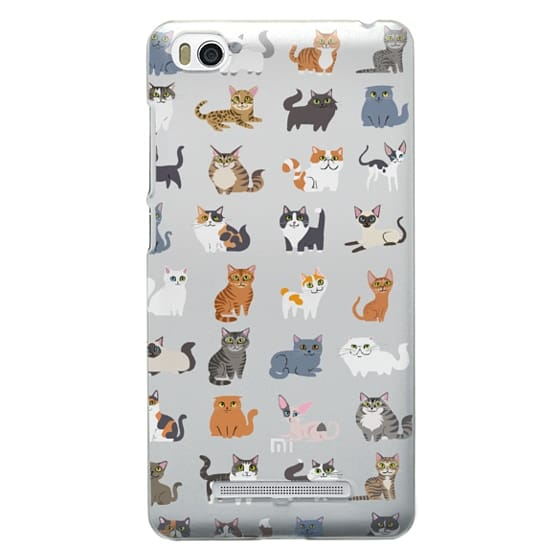 Xiaomi 4i Cases - All Cats (clear)