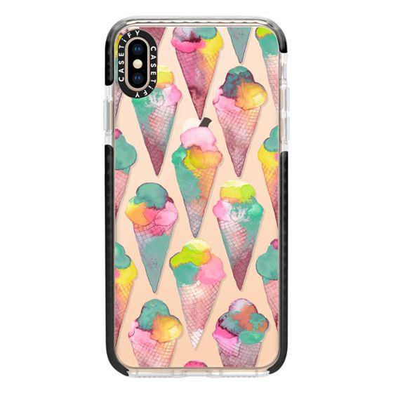iPhone XS Max Cases - Pink icecream cones