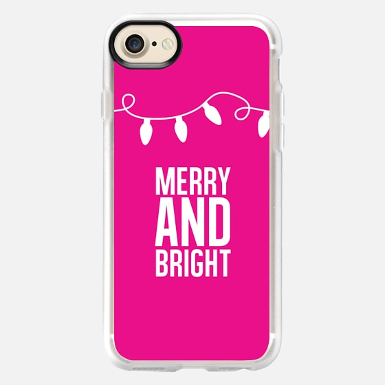 Merry + Bright. Pink. - Wallet Case