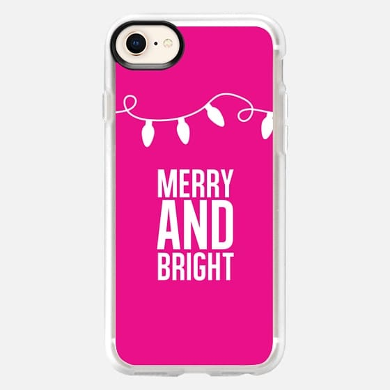 Merry + Bright. Pink. - Snap Case