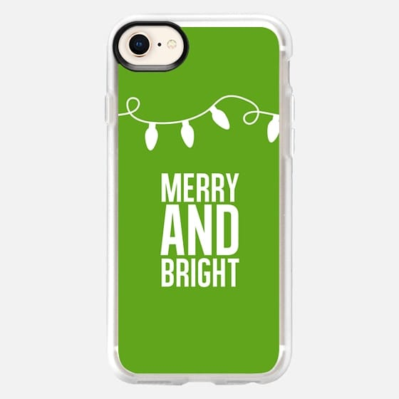 Merry + Bright. Green. - Snap Case