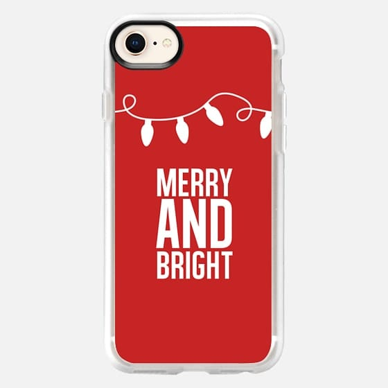 Merry + Bright. Red. - Snap Case