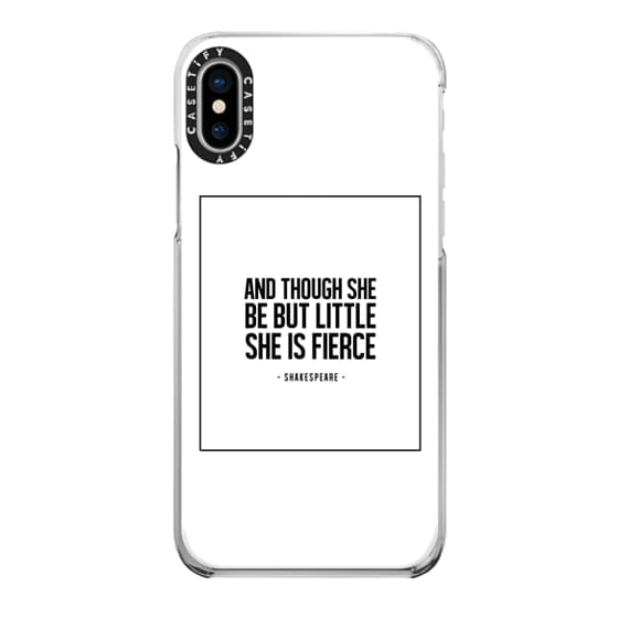 iPhone X Cases - LITTLE, BUT FIERCE. WHITE.