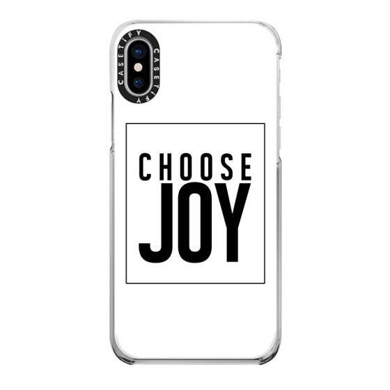 iPhone X Cases - CHOOSE JOY. WHITE.
